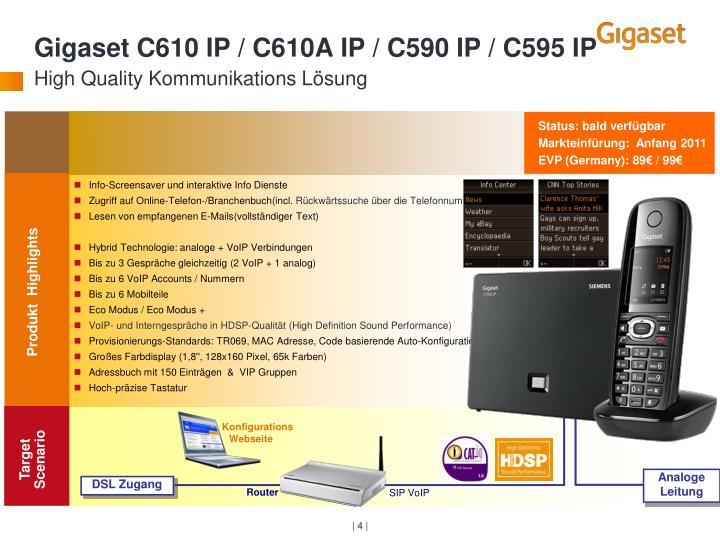 Gigaset C610 IP / C610A IP / C590 IP / C595 IP