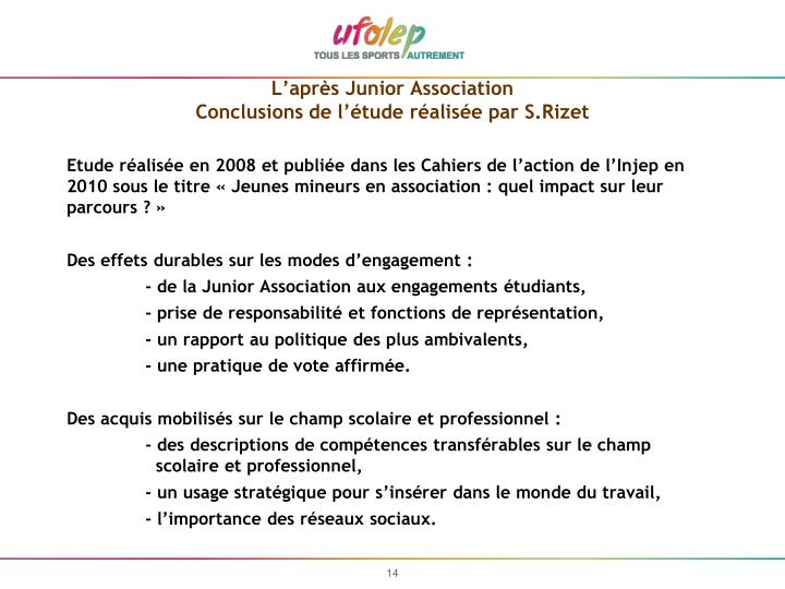 L'après Junior Association
