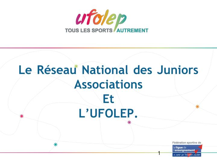 Le Réseau National des Juniors Associations