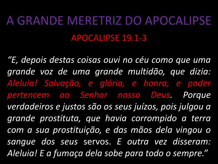 A GRANDE MERETRIZ DO APOCALIPSE