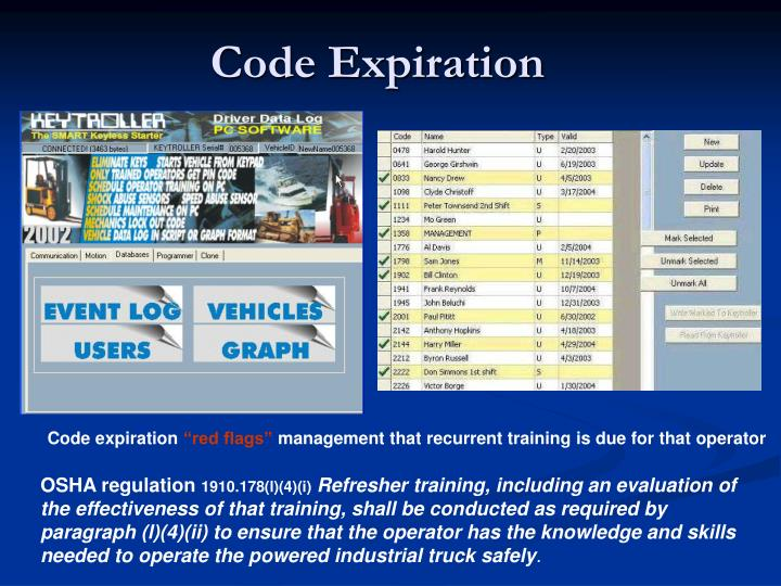 Code Expiration
