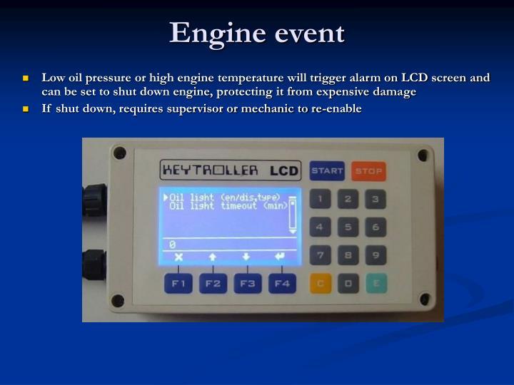 Engine event