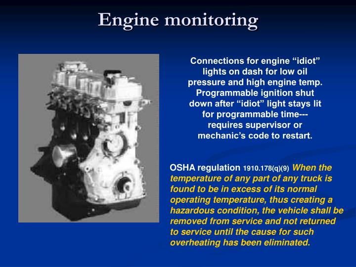 Engine monitoring