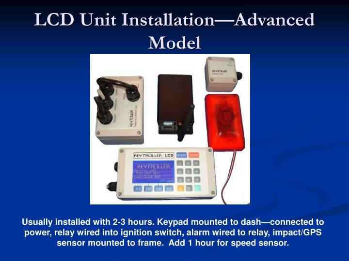 LCD Unit Installation—Advanced Model