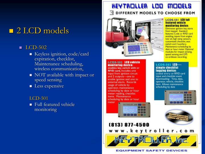 2 LCD models