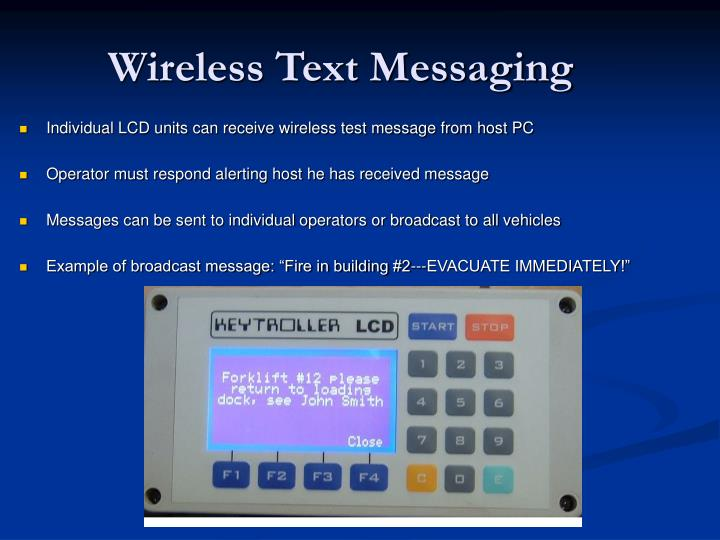 Wireless Text Messaging