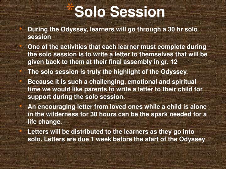 Solo Session