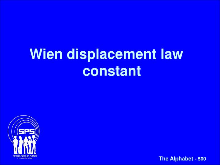 Wien displacement law constant