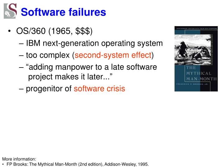 Software failures