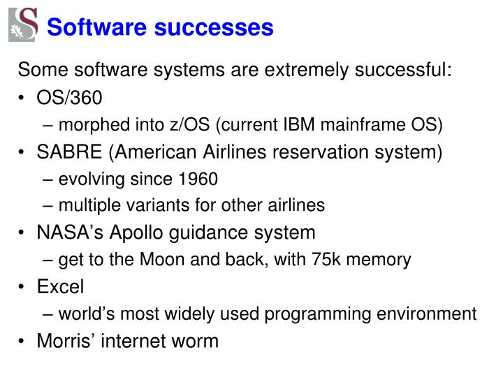 Software successes
