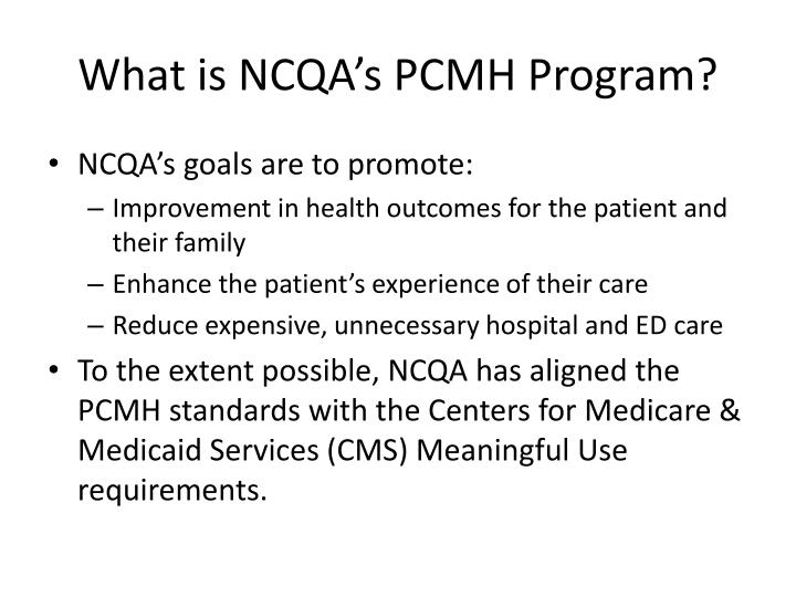 What is NCQA's PCMH Program?