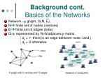 background cont basics of the networks
