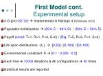 first model cont experimental setup