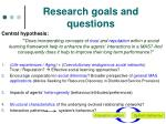 research goals and questions