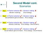 second model cont scenarios