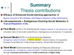 summary thesis contributions