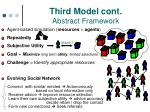 third model cont abstract framework