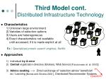 third model cont distributed infrastructure technology