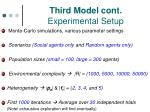 third model cont experimental setup