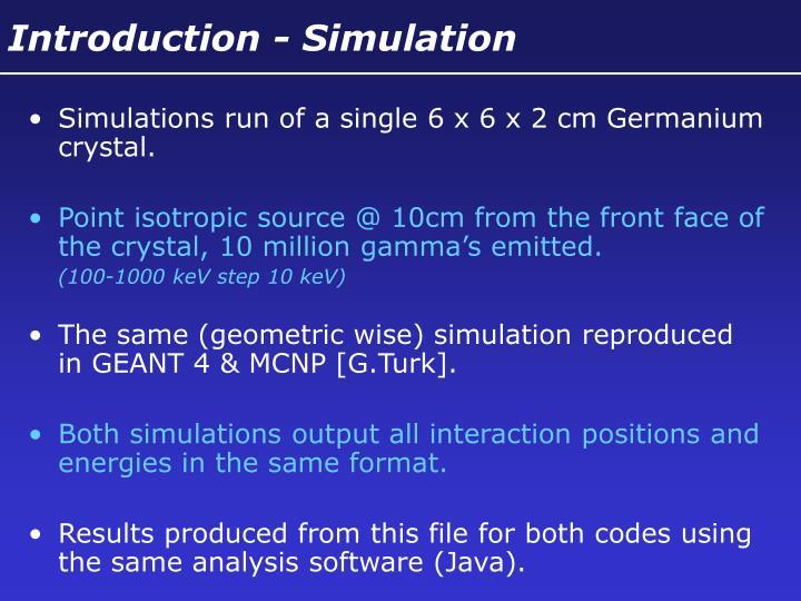 Introduction - Simulation