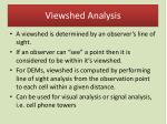 viewshed analysis
