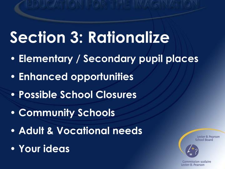 Section 3: Rationalize