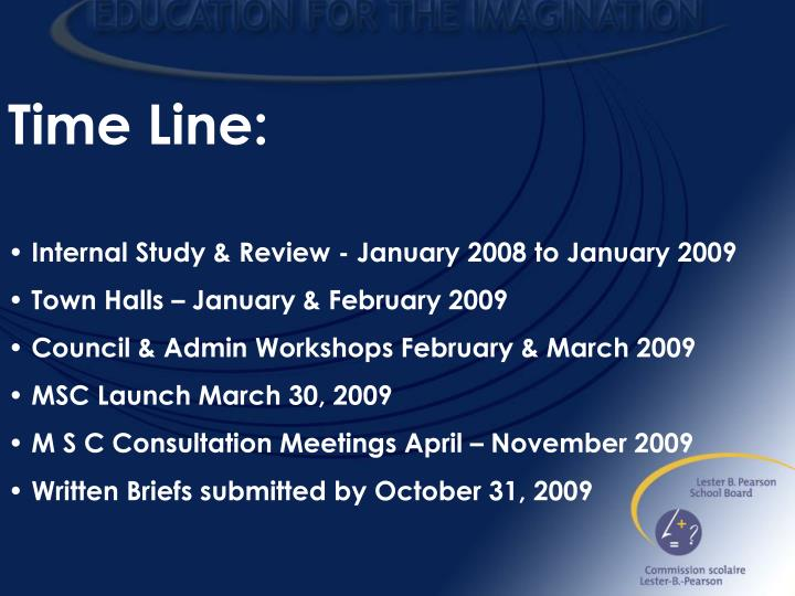 Time Line: