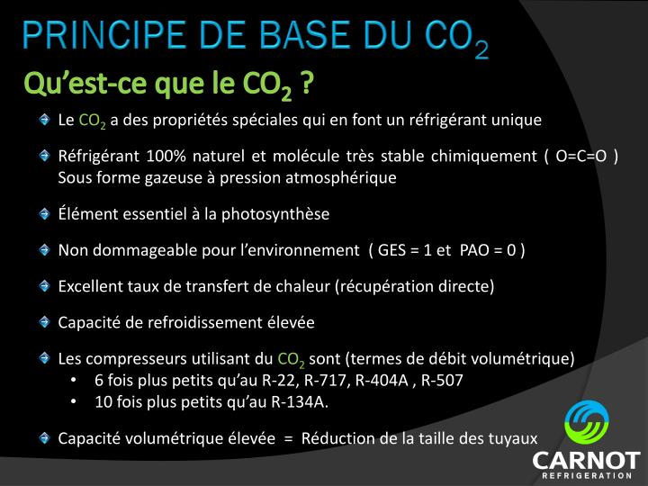 PRINCIPE DE BASE DU CO