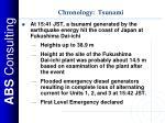 chronology tsunami