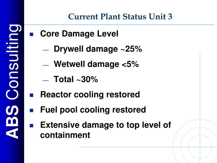 Current Plant Status Unit 3
