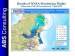 results of nnsa monitoring flights taken from usdoe presentation of 7 april 2011