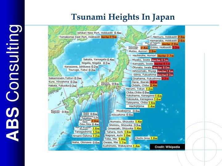Tsunami Heights In Japan