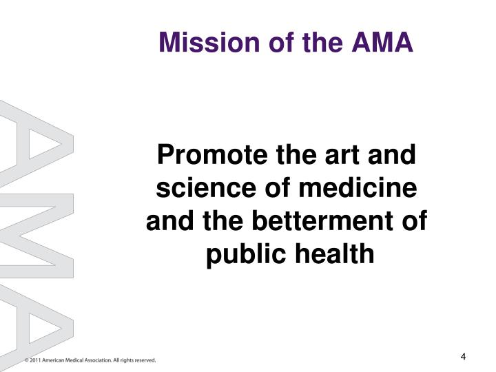Mission of the AMA