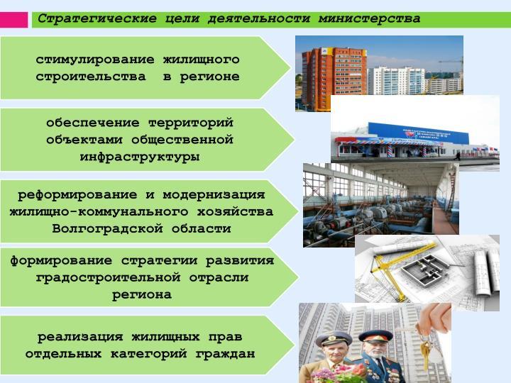 Стратегические цели деятельности министерства