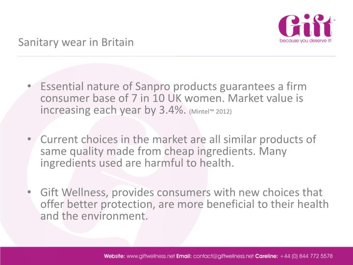 Sanitary wear in britain