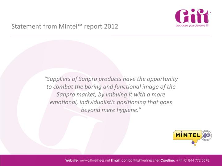 Statement from Mintel