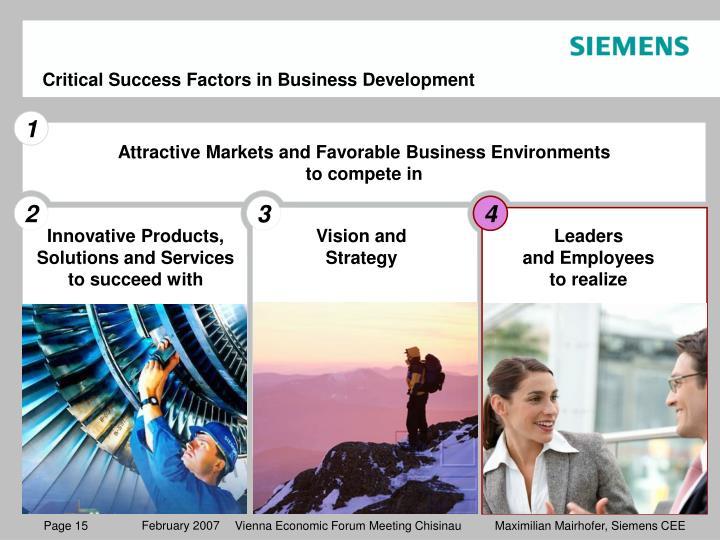 Critical Success Factors in Business Development