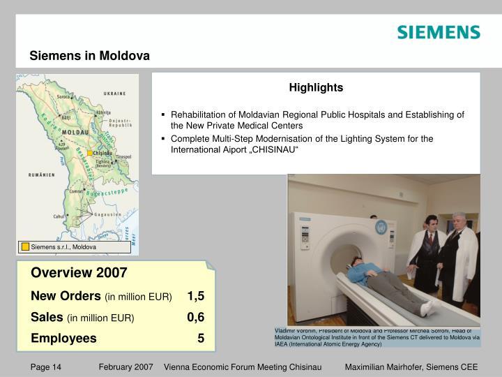 Siemens in Moldova