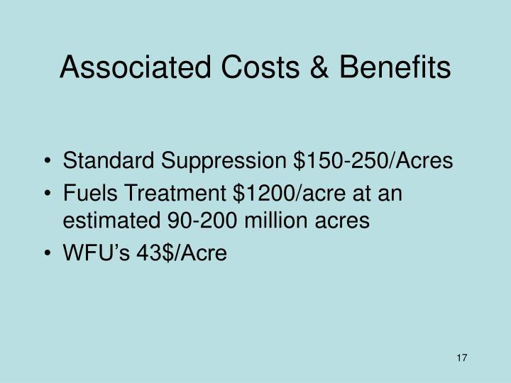 Associated Costs & Benefits