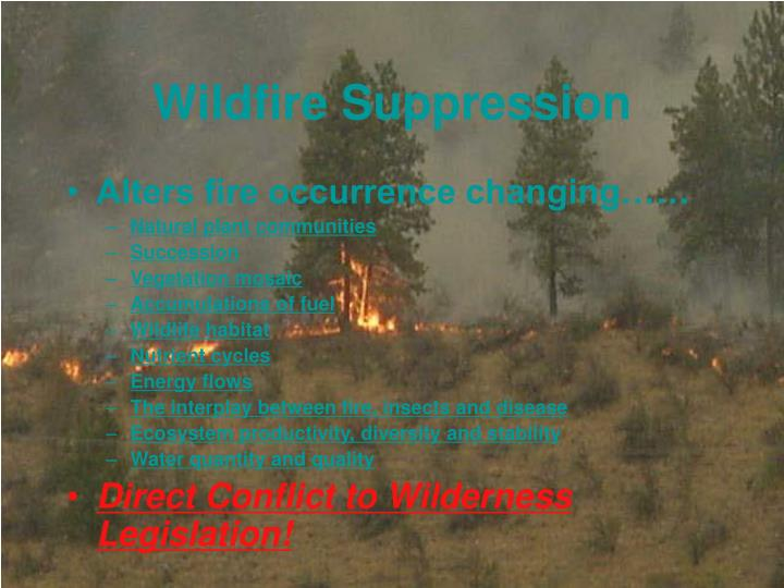 Wildfire Suppression
