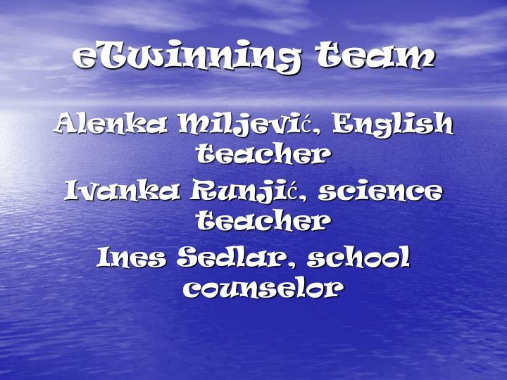 eTwinning team