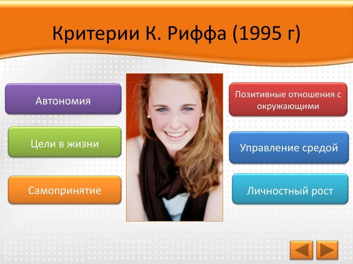Критерии К. Риффа (1995 г)
