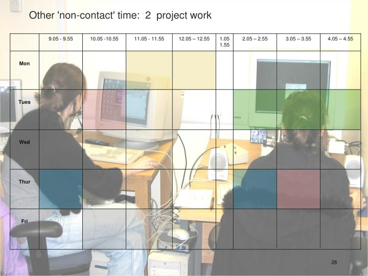 Other 'non-contact' time:  2  project work