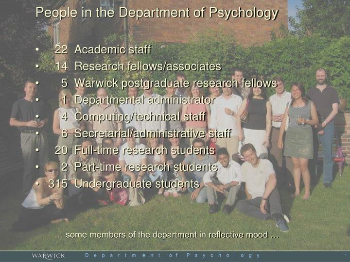 People in the Department of Psychology