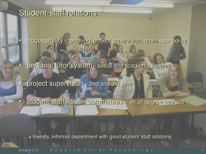 Student-staff relations