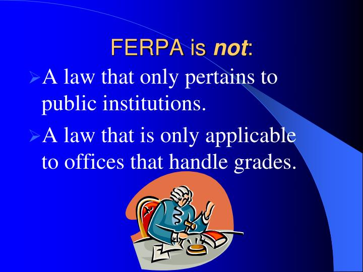 A law that only pertains to public institutions.