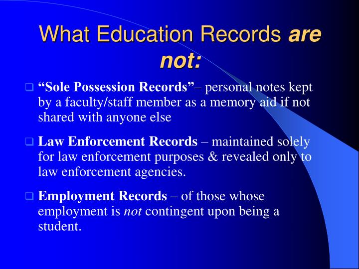 What Education Records