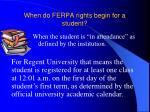 when do ferpa rights begin for a student