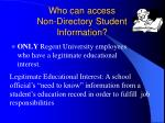 who can access non directory student information