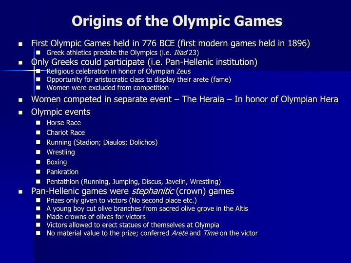 Origins of the Olympic Games